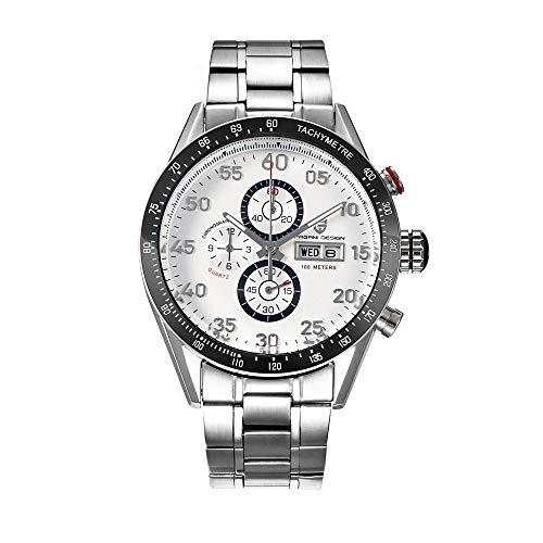 Pagani Design Fashion Mens Classic Chronograph Edelstahl Armband Business Casual Watch