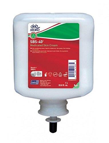 SBS 40 Medicated Skin Cream 1 Liter Refill - SBS1L, Pack of 6