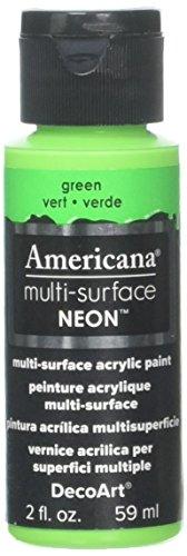 Artdeco DecoArt Americana–Multi Superficie Satinado neón Botella Pintura, acrílico, Verde, 3x 3x 7cm