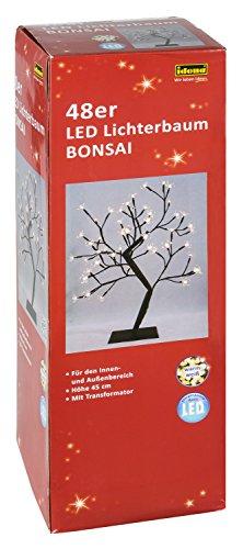Idena Lichterbaum Bonsai mit 48 warm weißen LED, ca. 45 cm, für außen, 8582086