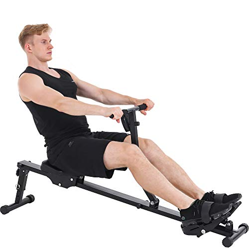 KUCATE Rowing Machine Rower for Home Use,12 Levels Adjustable Resistance Row Machine Exercise Equipment with LCD Monitor,265 lbs Weight Capacity by KUCATE