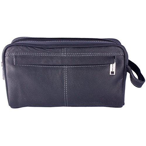 Black Leather Wash sac de Pierre Cardin