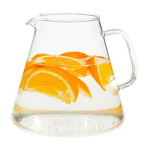 Trendglas Jena Glaskanne / Saftkrug / Wasserkrug BARI aus Borosilikatglas, 1,3 L