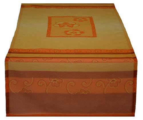Chemin de table Qatar Nappe Chemin de ruban de table Sable/Orange env. 45 x 135 cm