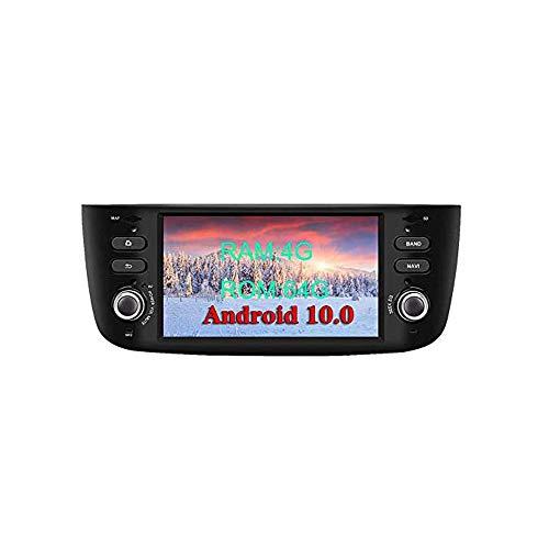 XISEDO Android 10.0 Autoradio In-dash 1 Din Car Radio 6.2 Pollici Car Stereo 8-Core RAM 4G ROM 64G Navigatore GPS con Schermo di Tocco per Fiat Linea/Fiat Grande Punto