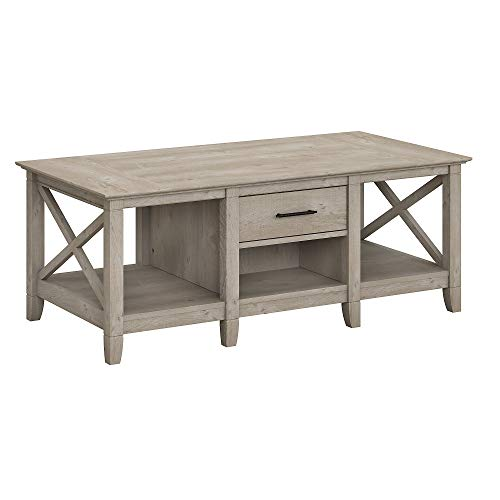 Bush Furniture Key West Coffee Table with Storage