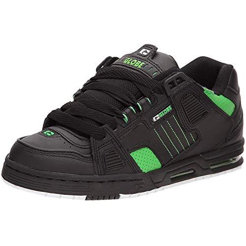 Globe Sabre Herren Skateboard Schuhe, Schwarz (black/moto green), 43 EU