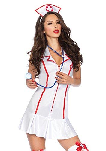 Leg Avenue Costume Infirmière Délicate Blanc Taille XL