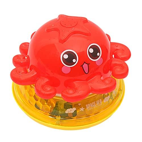 Sroomcla Babybad Spielzeug Automatisches Sprühwasserbad Spielzeug mit LED-Licht Induktion Sprinkler Badewanne Duschspielzeug für Kleinkinder Polite