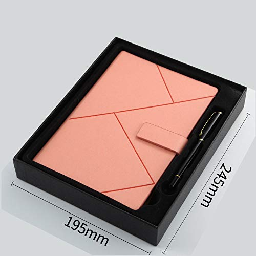 langchao high-end diario notepad creative a5 notebook set b5 business notebook Estuche rígido rosa para regalo con bolígrafo