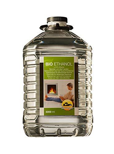 FARMLIGHT 5L Bioetanolo combustibile Liquido Ecologico Naturale inodore per bio camini e stufe, 5 litri