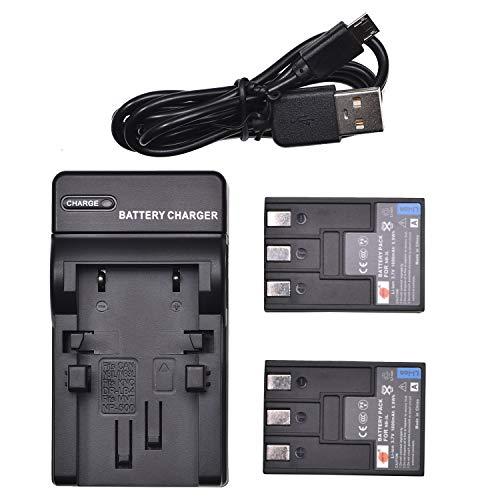 DSTE NB-3L - Juego de 2 pilas de ion de litio y cargador micro USB compatible con cámaras Canon PowerShot SD20, SD500, SD550, Digital IXUS 750, IXUS i, IXUS i5, IXUS II, IXUS IIs