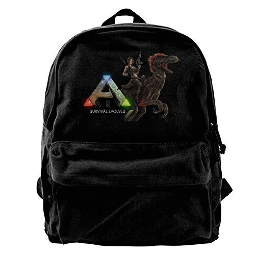 ATRXZ Jugend Mädchen Jungen Herren Damen Ark-Survival-Evolved Game Logo Merch Backpack Bags