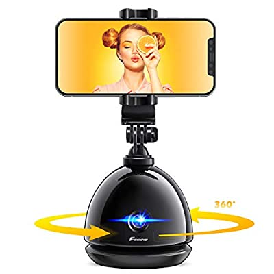 Smart Tracking Phone Camera Tripod: Foxnovo Auto Face Tracking Holder NO APP Required Selfie Stick Stabilizer iPhone Video Recording YouTube TIK Tok 360° Auto Face Tracker Rotation Cell Phone Stand from Foxnovo