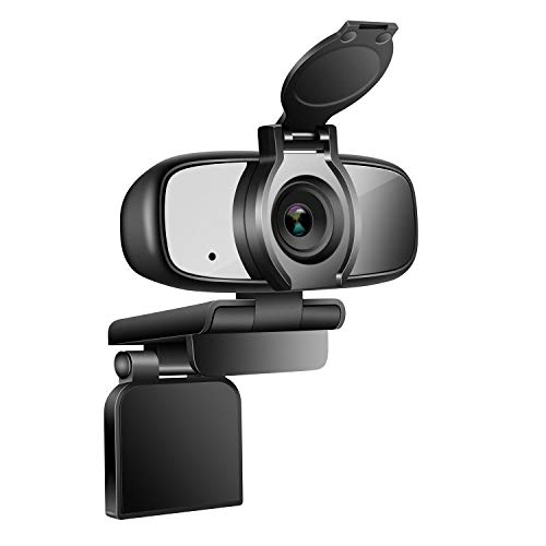 ZILNK Webcam 1080P mit Objektivdeckel, Laptop oder Desktop USB Kamera 2MP für Konferenzen, Videoanrufe, Streaming, Aufnahme, Skype, Plug&Play, Flexibel Einstellbarer Clip, Weitwinkel