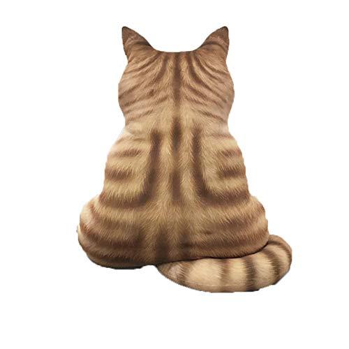 JWShang Bonita almohada para sofá con forma de gato, cómoda simulación para decoración del hogar, cojín para niños o niñas, cojín con forma de gato