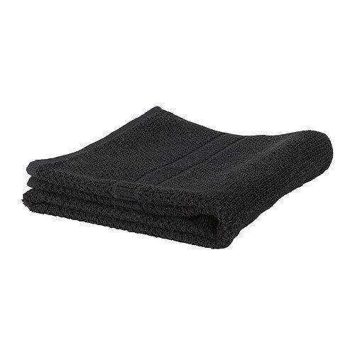 IKEA FRÄJEN Handtuch in schwarz; (30x50cm)
