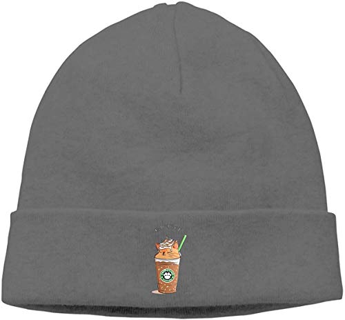 BHGYT Caramel CAT Unisex Winter Knitting Wool Warm Hüte Daily Slouchy Hütes Beanie Skull Hut