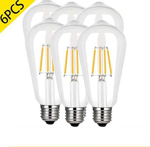 ST64 Edison LED Birne, Dimmbare Eichhörnchen Käfig Glühbirnen, Soft Warm White 2700K, E26 / E27,110V-240V,8W