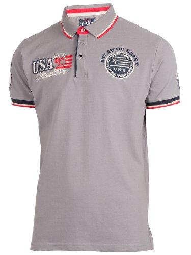 Ultrasport Herren Poloshirt Miami, Grau, M