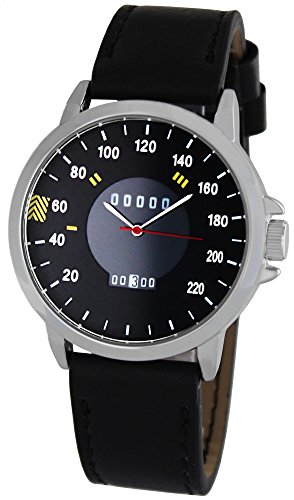Pacific Time Herrenuhr analog Quarz mit Lederarmband 22322
