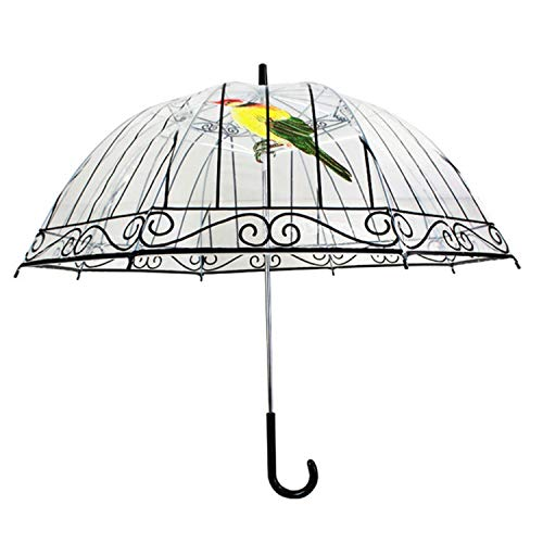 Stay-Here 1Pcs Plastic Eva Transparent Umbrellas Cute Parasol Long Handle Rainy Clear Bubble Umbrella For Women,As Picture