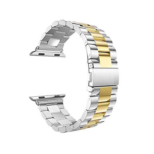 Correa de reloj Correa de acero inoxidable para Apple Watch SE 6...