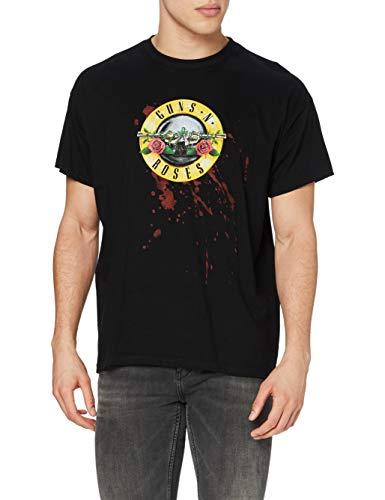 Bravado - Camiseta con Cuello Redondo de Manga Corta para Hombre, Talla 43, Color Negro