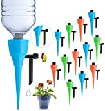 LAVIZO 【New Upgrade】 Plant Self Watering Spikes Devices, Automatic Irrigation Equipment Plant Waterer with Slow Release Control Valve, Plant Self-Watering Device Suitable for All Bottles -12 Pack