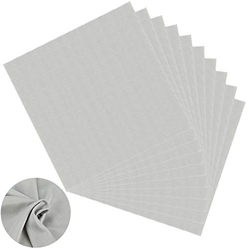 SSPECOTNR Schallplatten-Reinigungstuch 30 x 30 cm, groß, antistatisch, Mikrofaser-Handtuch, fusselfrei entfernt Staub von Vinyl-Schallplatten ohne die empfindliche Oberfläche zu beschädigen 10 Stück