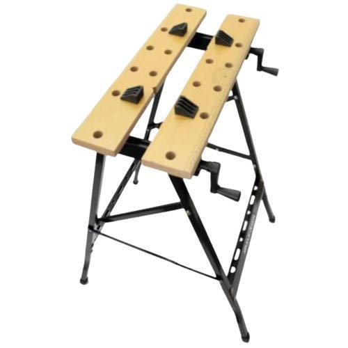 Kombo - Banchetto Lavoro richiudibile per Officina 61x56x79 Portata 100 kg con Doppia morsa, Piano in MDF, Tavole in Legno