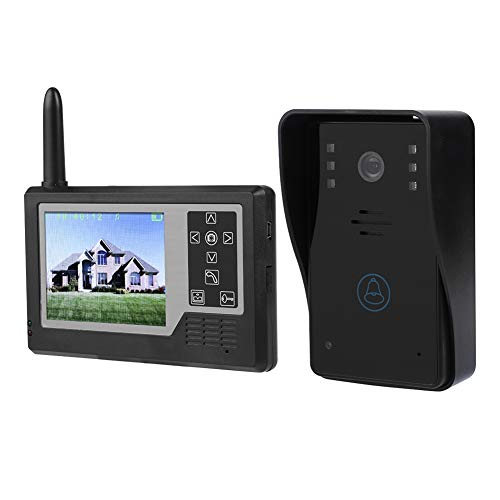 Preisvergleich Produktbild VBESTLIFE Video-Türklingel,  WiFi Wireless 3, 5-Zoll-LCD-Bildschirm Wasserdichter intelligenter Türsprechstimme-Intercom-System-Kit mit HD-Kamera,  IR-Nachtsicht,  Bewegungserkennung(Schwarz)