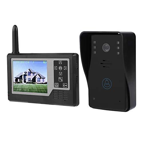 Eboxer 2.4G 3.5 in TFT Pantalla Timbre de Puerta Inalámbrica Digital con Cámara de Video y Sistema de Intercomunicación con Timbre para Hogar(Una Pantalla)