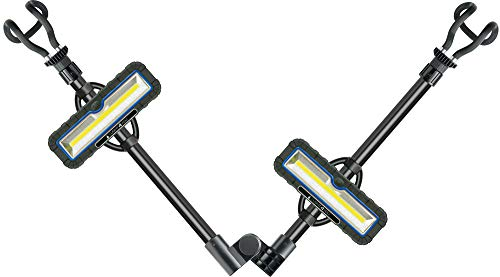 SCHWAIGER -661583- LED Arbeitsstrahler 10 W mit Powerbank Funktion 5200 mAh Akku 1000 Lumen Leuchten COB LED Baustrahler klappbar bis 1,90m ausziehbar abnehmbar mit Magneten