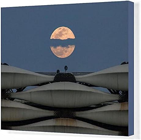 Media Storehouse 20x16 Canvas Moon Iraq-Astronomy-Full of Boston Mall Bombing new work Print