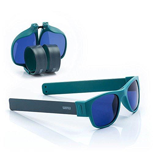 Sunfold Accent Gafas de Sol Enrollables, Hombre, Turquesa y Gris, Talla Única
