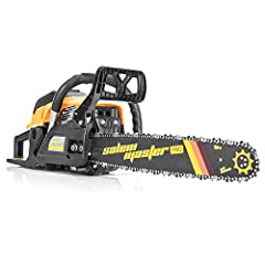High Performance&Claim -- SALEM MASTER 62cc 3.4hp powerful gas chainsaw delivers steady power to the 20-inch bar and low-kickback chain. The engine speed can be up to 8500 rpm. Ideal tool for cutting firewood and felling trees with a much higher effi...