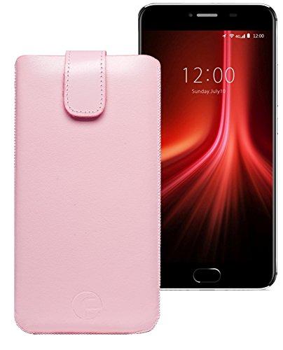 Original Favory Etui Tasche für Umidigi Z1 Pro | Leder Etui Handytasche Ledertasche Schutzhülle Hülle Hülle Lasche mit Rückzugfunktion* in rosa