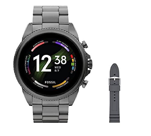 Fossil Connected Smartwatch Gen 6 para Hombre con tecnología Wear OS de Google, frecuencia cardíaca, NFC y notificaciones smartwatch + Fossil Correa de Reloj