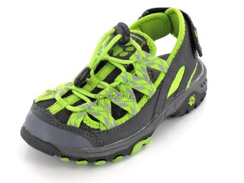 Jack Wolfskin, 4020051-4170320, lime green (neongrün-schwarz), Größe 32, Grau, EVA, Fußbett, antibakteriell