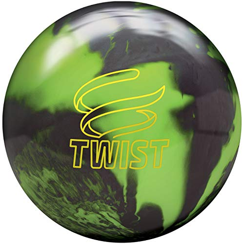 Brunswick Twist - Schwarz/Gold/Silber Reaktiv Bowling Ball für Einsteiger und Profis (Neon Grün/Schwarz, 15 LBS)