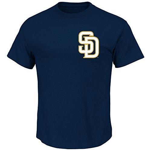 Padres de San Diego Matt Kemp Majestic camiseta azul marino oficial nombre y número # 27camiseta