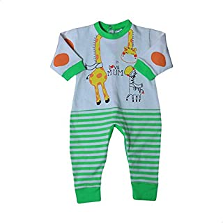 Papillon Front Print Long Sleeves Striped Jumpsuit for Boys