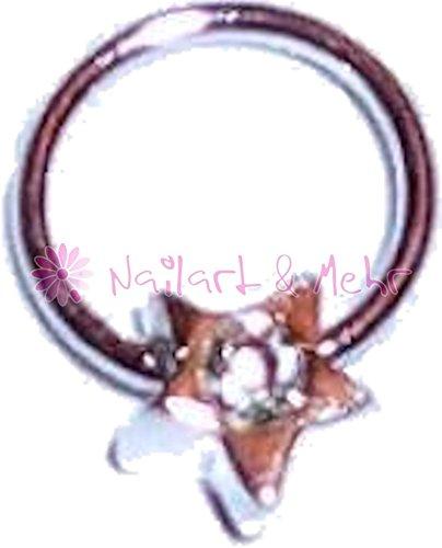 Fingernagel-/Nailart Piercing STERLING-SILBER, Design