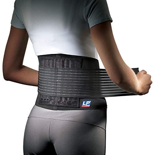 LP Support 919 Rückenbandage mit Stabilisierungsstäben - Rückenschutz - unisex, Größe:L/XL, Farbe:schwarz