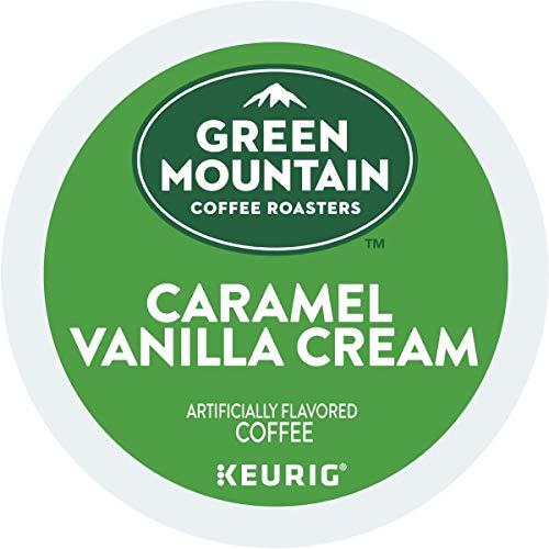 Green Mountain Coffee Roasters Caramel Vanilla Cream Keurig Single-Serve K-Cup pods, Light Roast Coffee, 72 Count