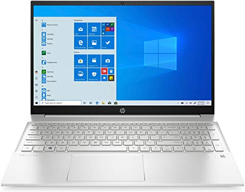 HP Pavilion 15-eg0039ne Laptop, 15.6″ FHD, 11th Gen Intel® Core™ i5 processor, 8GB RAM, 512 GB SSD, NVIDIA GeForce MX450 2GB Graphics, Windows 10 Home, EN-AR KB, Silver – Middle East Version