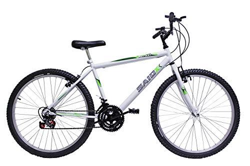 Bicicleta Aro 26 Masculina De Passeio 18 Marchas (Branco)