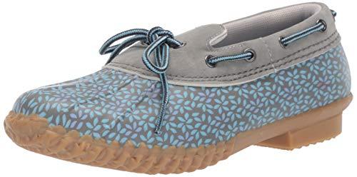 JBU by Jambu Women's Gwen Garden Ready Rain Shoe, Stone Blue Floral, 8 M US