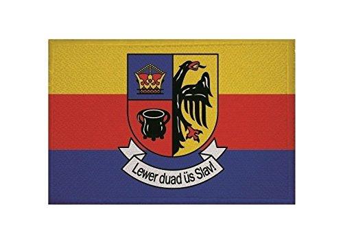 U24 Aufnäher Nordfriesland Fahne Flagge Aufbügler Patch 9 x 6 cm